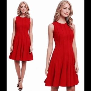 Calvin Klein size 10 red fit and flare dress